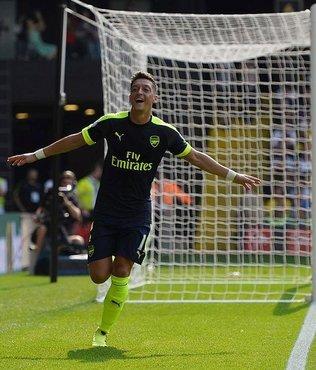 Mesut att� Arsenal kazand�