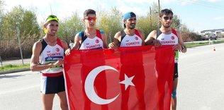 Balkan Yürüyüş Şampiyonası'nda millilerden 7 madalya