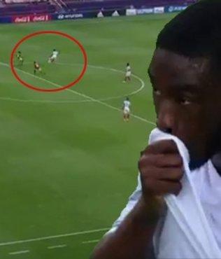 Milli maçta akıl almaz olay...