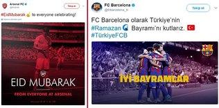 Futbol dünyasından Ramazan Bayramı mesajları