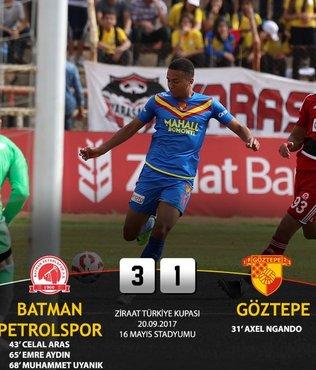 Göztepe'ye Batman Petrolspor şoku!