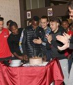 Trabzonspor'da N'Doye'un doğum günü kutlandı