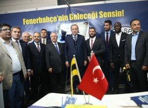 Cumhurbaşkanı Erdoğandan Fenerbahçenin standına ziyaret