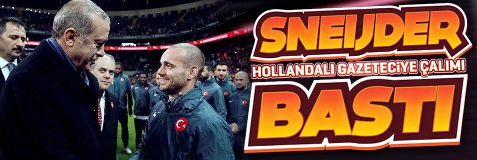 Sneijder, Hollanda medyasına çalımı bastı