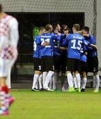 Hırvatistan, Estonya'ya farklı kaybetti