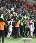 Gaziantepspor - Adanaspor maçında gerginlik