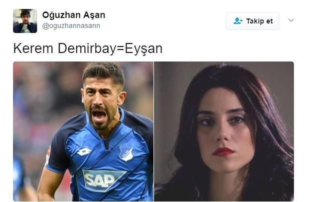 Sosyal medyada Kerem Demirbay tepkileri