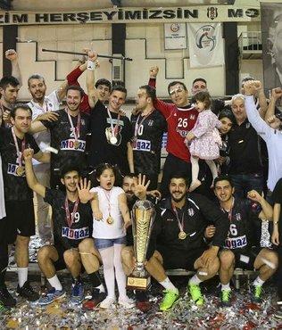 Beşiktaş Mogaz, şampiyonluk kupasını aldı