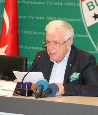 Bursaspor Başkanı Ali Ay: Böyle taraftarlık olmaz olsun