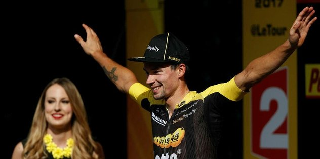 17. etabı Primoz Roglic kazandı