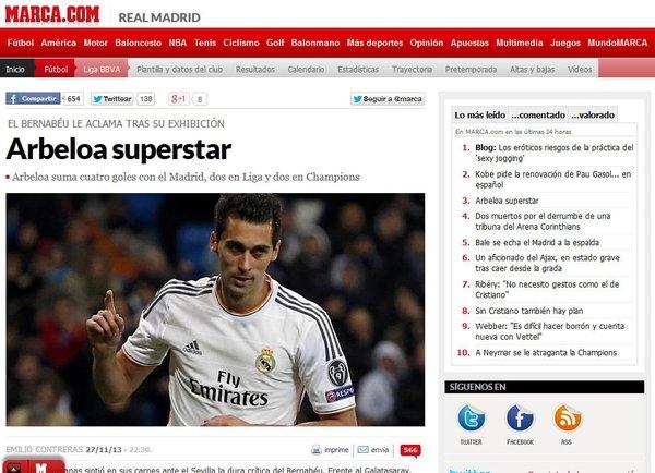 Dış basında R. Madrid-G.Saray maçının yankıları