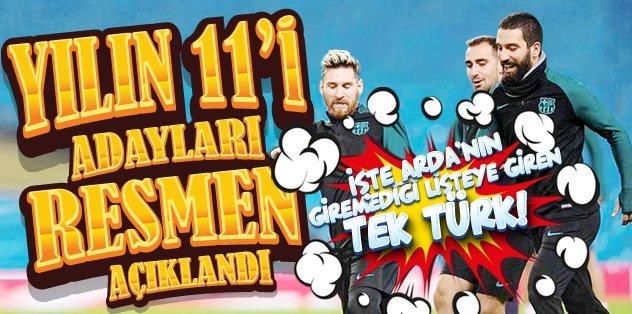 'Yılın 11'i' adayları resmen açıklandı