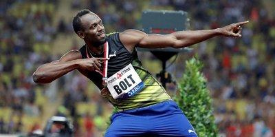 Bolt 10'un altında koştu