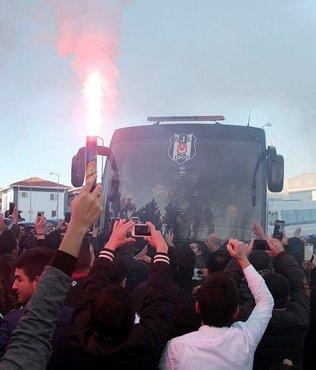 Beşiktaş kafilesi, Alanya'ya geldi