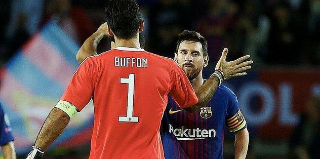 Messi, Buffon'u da yıktı