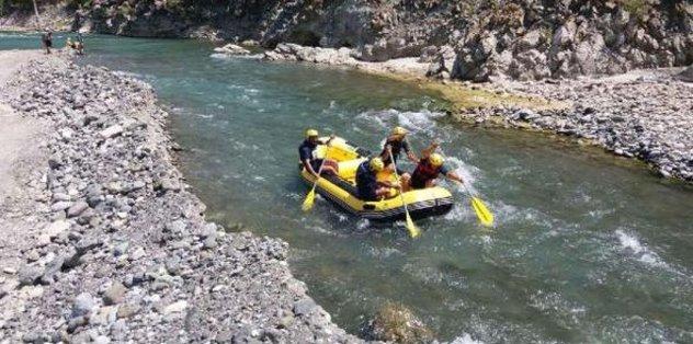 Raftingçiler Dalaman'da buluştu
