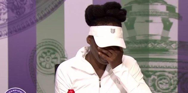 Venus Williams gözyaşlarına boğuldu