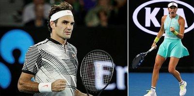 Federer ve Muguruza tur atladı