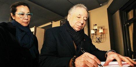 FIA Başkanı, Reina'ya karanfil bıraktı