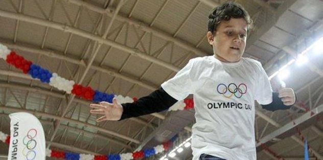 3 bini aşkın çocuk Olimpik Günü kutladı