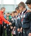 Bursaspor'un minik şampiyonları altınla ödüllendirildi
