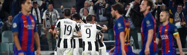 Juventus dominate Barcelona in CL