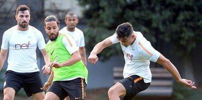 Galatasaray'dan çift antrenman
