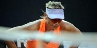 Sharapova'nın zor anları!