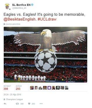 Benfica'dan 'kartal' payla��m�