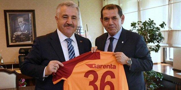 Dursun Özbek'ten Arslan'a ziyaret