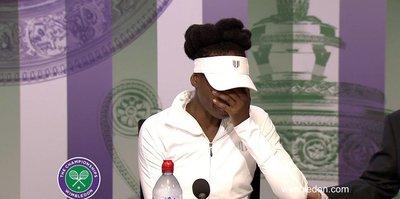 Venus Williams basın toplantısında gözyaşlarına boğuldu