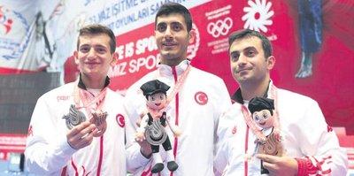 Samsun'da madalya şov