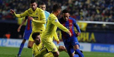 Barcelona'ya Villareal freni