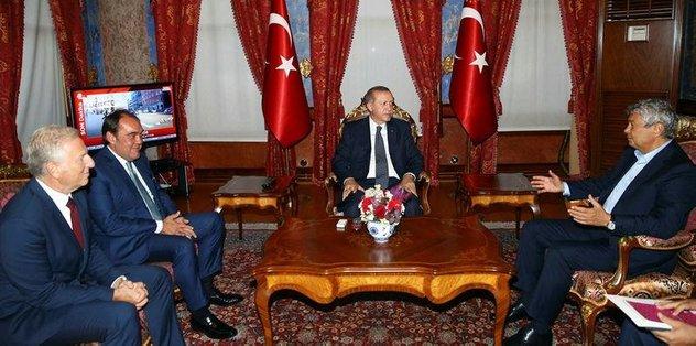 Luce'den Cumhurbaşkanı Erdoğan'a ziyaret