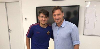 Cengiz Ünder Totti ile buluştu