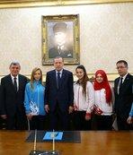 Cumhurbaşkanı Erdoğan, şampiyonları ödüllendirdi