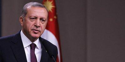 Erdoğan'dan tebrik