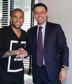 Dani Alves'ten Barcelona başkanına tepki!
