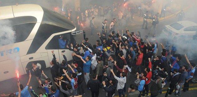 Trabzonspor'a co�kulu kar��lama