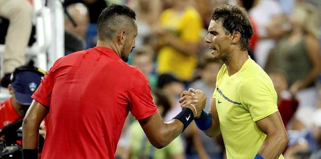 Nadal, Cincinnati'de Kyrgios'a takıldı