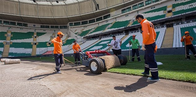 Timsah Arena yeni çimlere kavuşuyor