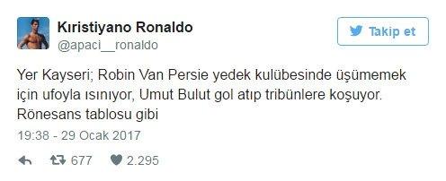 Kayserispor - Fenerbahçe maçı Twitter'ı salladı!