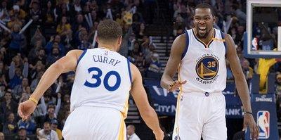 Warriors'tan Cavaliers'a 35 sayı fark