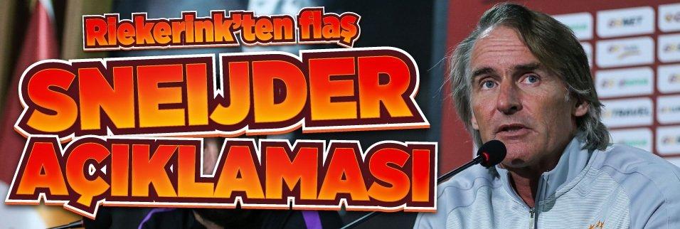 Riekerink'ten fla� Sneijder a��klamas�